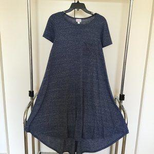 LuLaRoe Blue Heather Carly Dress